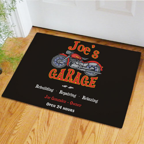 Sports And Hobby Doormats Personalized Garage Doormat
