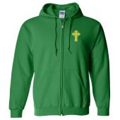 Embroidered Irish Design Zip Up Hoodie